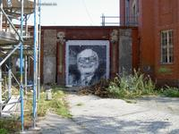 Erich Honecker Graffiti VEB Stern-Radio-Berlin Weißensee